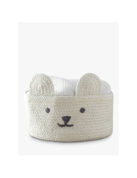 Pottery Barn Kids Knitted Bear Small Storage Basket by Pottery Barn Kids