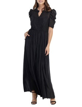 Jolene Shimmer Chiffon Maxi Dress by Gal Meets Glam Collection