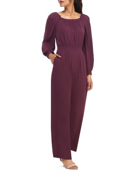 Cheyenne Long Sleeve Crepe Jumpsuit by Gal Meets Glam Collection