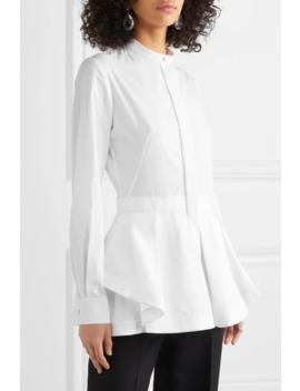 Draped Cotton Piqué Shirt by Alexander Mc Queen