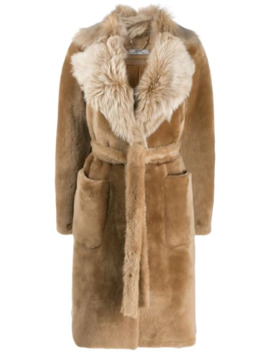 Oversized Collar Fur Coat by Desa 1972