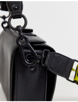 Steve Madden Bkween Black Camera Cross Body Bag With Logo Taping Strap by Steve Madden