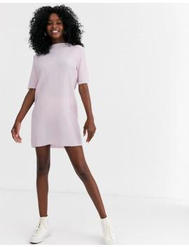 Asos Design Plisse High Neck T Shirt Dress by Asos Design