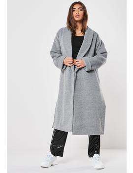 Gray Shawl Collar Coat by Missguided