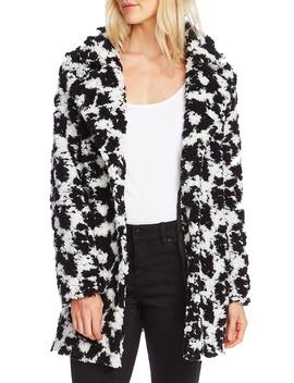 Dalmatian Pile Fleece Jacket by Vince Camuto