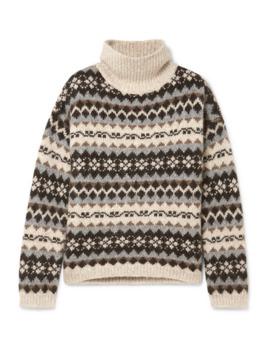Catalina Fair Isle Alpaca Blend Turtleneck Sweater by Nili Lotan