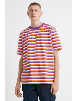 Guess X 88rising Purple Stripe T Shirt by Guess