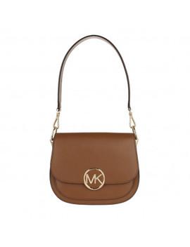 Lillie Medium Saddle Shopping Bag Acorn by Michael Kors