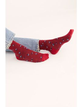 Ditsy Darling Waffle Knit Socks by Free People
