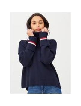 Hasel Roll Neck Jumper   Navy by Tommy Hilfiger