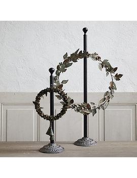 antiqued-iron-standing-wreath-hanger by terrain