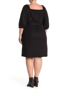 Optional Off The Shoulder Wrap Dress (Plus Size) by Eloquii