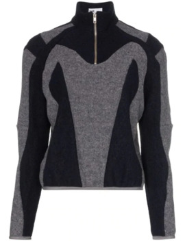 Two Tone Zipped Jumper by Gmb H