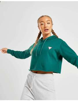 Guess Triangle Crop Hoodie by Jd Sports