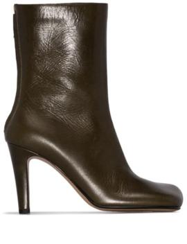 Square Toe Ankle Boots by Bottega Veneta