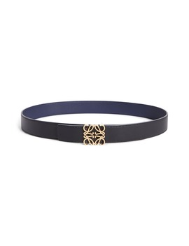 Anagram Logo Calfskin Leather Belt by Loewe