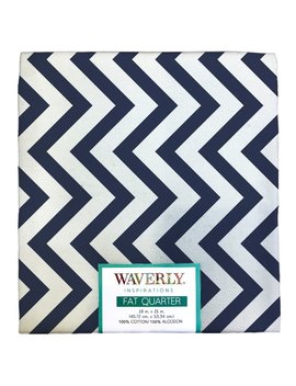 "Waverly Inspirations Cotton 18"" X 21"" Fat Quarter Zigzag Ink Print Fabric, 1 Each by Waverly"