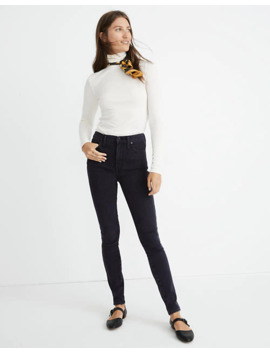 """Petite 10"""" High Rise Skinny Jeans In Eclipse Wash by Madewell"""