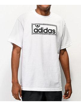 Adidas New Icon Logo White T Shirt by Adidas