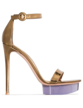 Open Toe 130mm Platform Sandals by Gianvito Rossi