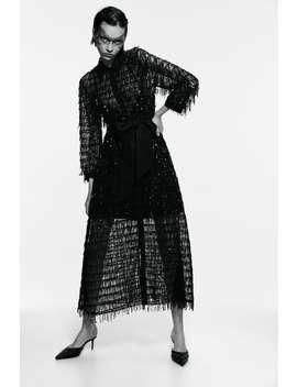 Vestido Comprido Com Lantejoulas by Zara
