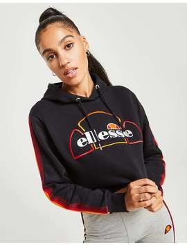 Ellesse Rainbow Tape Crop Hoodie by Jd Sports