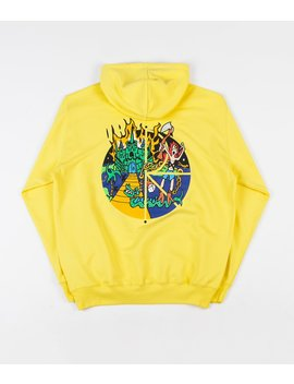 Polar Castle Fill Logo Hoodie   Yellow by Polar