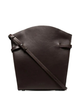 Midi Satchel Leather Shoulder Bag by Aesther Ekme
