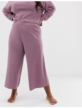 Asos Design Curve Lounge Knitted Relaxed Culottes by Asos Design