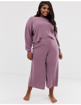 Asos Design Curve Lounge Knitted Relaxed Sweat by Asos Design