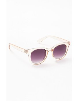 Pac Sun Brown Plastic Round Sunglasses by Pacsun