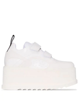 White Eclypse Velcro Sneakers by Stella Mc Cartney
