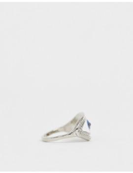 Asos Design   Sølvfarvet Ring I Emalje Med øjedesign by Asos Design