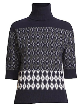 Argyle Jacquard Turtleneck Sweater by Chloé