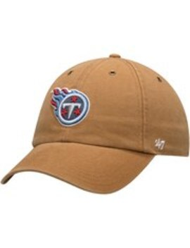 Tennessee Titans Carhartt X '47 Clean Up Adjustable Hat   Brown by '47