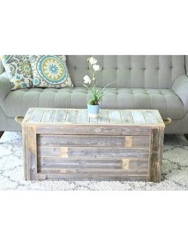 Trunk Coffee Table With Rope Handles by Doug And Cristy Designs