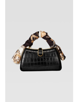 Animal Embossed Mini Crossbody Bag With Scarf Detail by Zara