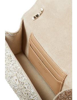 Leni Tt Glittered Leather Shoulder Bag by Jimmy Choo