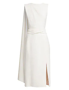 Sleeveless Draped Pencil Dress by Oscar De La Renta