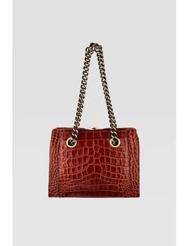 Animal Embossed Shoulder Bag With Chain Straps by Zara