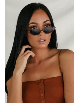 Cozette Tortoise Cat Eye Sunglasses by Lulus
