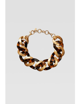 Limited Edition Tortoiseshell Link Necklace by Zara