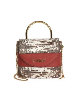 Abby Snake Embossed Leather Shoulder Bag by Chloé