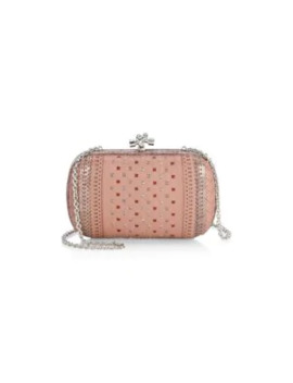 Chain Knot Intarsia Leather Clutch by Bottega Veneta