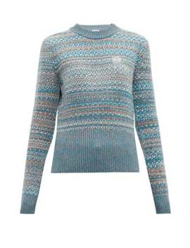 Logo Embroidered Fair Isle Sweater by Loewe