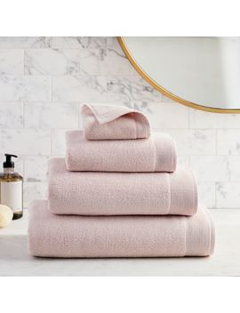 Organic Luxe Fibrosoft™ Towels   Pink Blush by West Elm