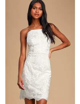 Start Of Forever White Lace Bodycon Mini Dress by Lulus