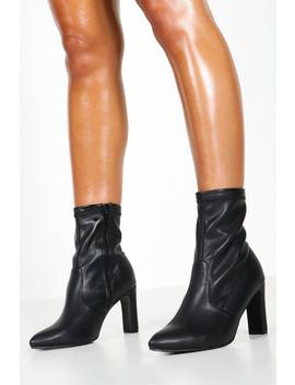 Extra Wide Fit Flat Heel Sock Boots by Boohoo