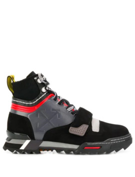 Panelled Arrows Logo Sneakers by Off White