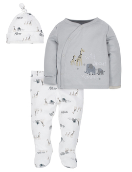 Gerber Organic Cotton Take Me Home Set, 3 Piece (Baby Boys) by Gerber